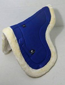A & S EQUESTRIAN imitation peau de mouton Doublure polaire doux Tapis de selle Tapis de selle COB Poney Cheval (COB, Bleu) de la marque A & S EQUESTRIAN image 0 produit