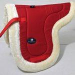 A & S Equestrian imitation peau de mouton Doublure polaire doux Tapis de selle Tapis de selle COB Poney Cheval (COB, Rouge) de la marque A & S EQUESTRIAN image 1 produit