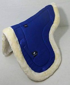 A & S Equestrian imitation peau de mouton Doublure polaire doux Tapis de selle Tapis de selle COB Poney Cheval (Full, Bleu) de la marque A & S EQUESTRIAN image 0 produit