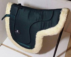 A & S EQUESTRIAN simili complète en peau de mouton Doublure polaire doux Tapis de selle Tapis de selle COB Poney Cheval (Full, Vert) de la marque A & S EQUESTRIAN image 0 produit