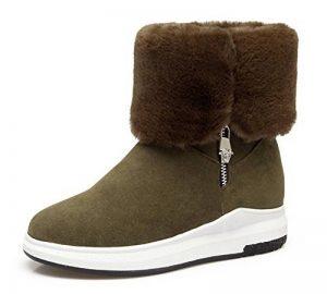 98945c0db4eb Aisun Femme Mode Chaussures de Neige Talon PLat Fermeture Eclair Bottes de  la marque Aisun image · bottes équitation pas cher ...