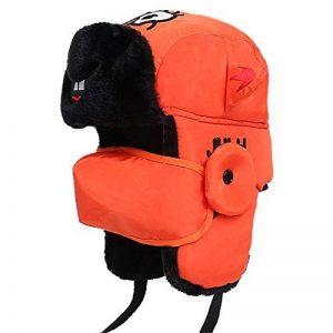 Bonnet hiver hommes et femmes, entre parents et enfants Lei Feng hat chapeau coton chaud épais masque coupe-vent cheval enfants,oreille chapeau orange, adulte (56-60cm) de la marque FANJIBA image 0 produit