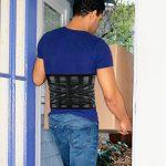 Ceinture thérapeutique pour posture, appareil pour bas du dos et ceinture de soutien, filet qui respire, double réglage, sangles antidérapantes, léger et discret sous les vêtements de la marque M SANMERSEN image 4 produit