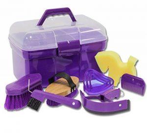 Coffre de pansage Plâtre Boîte Rembourré avec accessoires pour les chevaux couleur: lila| Plâtre Boîte | Nettoyage Coffre de la marque Amesbichler image 0 produit