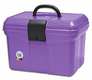 Coffre de pansage Rannenberg Boîte de coffre avec poignée, verrouillable, Diviseur réglable Grooming Box Violet de la marque Amesbichler image 0 produit