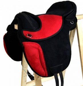 Coton sans Sheffield Selle de dressage en plastique noir/rouge de la marque A&M Reitsport image 0 produit