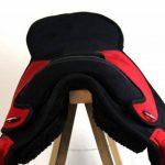 Coton sans Sheffield Selle de dressage en plastique noir/rouge de la marque A&M Reitsport image 2 produit