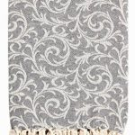 EHC 100% vintage réversible doux plaids pour canapé Couverture 125x 150cms, coton, gris, Single de la marque EHC image 1 produit