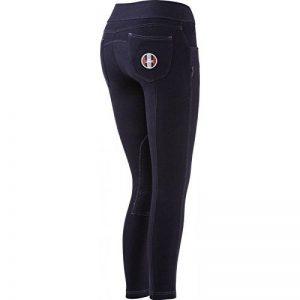Equi-theme/Equit'M 979101734- Pantalon d'équitation à enfiler, Unisexe, bleu marine Avec surpiqûres blanches, Taille unique de la marque Equi-Theme/Equit'M image 0 produit