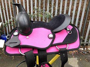 Equipride enfants de selle Western synthétique pour Shetalnd Poney et mini Cheval Rose de la marque Equipride image 0 produit