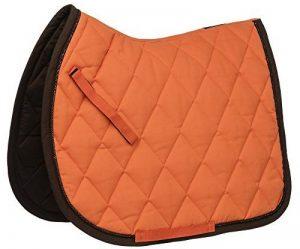 EQUITHEME Tapis Challenge - Couleurs - Orange/Choco, Taille Equipement Cheval - Poney de la marque EQUITHEME image 0 produit