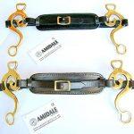 Hackamore SANS CHEVAL Bit laiton doré Allemand argent rembourré cuir - Noires Cuir de la marque Amidale image 1 produit
