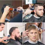 HATTEKER Tondeuse Cheveux Professionnelle Tondeuse Barbe Tondeuse à Cheveux pour Hommes sans fil avec 7 Peignes pour Enfant Adulte Coiffeur,Salon de la marque HATTEKER image 3 produit
