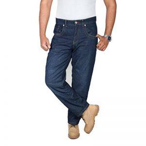 HB Hommes Moto Jeans. Bleu. Aramid de protection renforcée doublée moto Jeans. de la marque OneDayMore image 0 produit