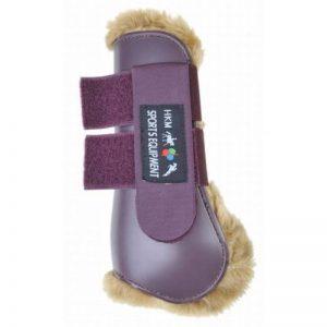 HKM 561395 Teddy Guêtre avant pour jambes, Pony, rouge foncé/Camel de la marque HKM image 0 produit
