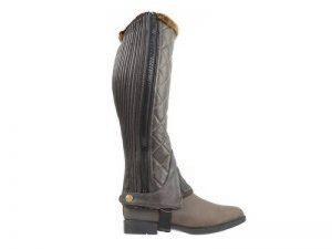 HY Chaps d'hiver matelassé-Noir-Conçu pour garder vos pieds au chaud en hiver-Disponible Dans Une Gamme De Tailles-Parfait pour cheval d'équitation de la marque William Hunter Equestrian image 0 produit