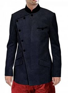 INMONARCH Velours côtelé Noir 2 Pc Jodhpuri costume JO197 de la marque INMONARCH image 0 produit