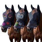 LTG Pro® Cheval Poney COB Fly Masque Voile Capuche Full Face Dessin animé Polyester oreilles Nez protection de la marque LTG PRO® image 3 produit