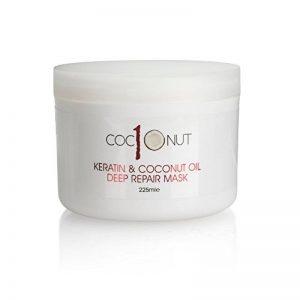 Masque réparation intense pour cheveux - kératine/huile de coco - soin intensif pour cheveux secs/abimés - 225 ml de la marque Simply Beautiful image 0 produit