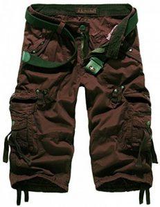 Mochoose Homme Pantalons Courts Coton de L'été Vintage Cargo Travail Casual 3/4 Shorts Multi Pockets Sport et Loisir de la marque Mochoose image 0 produit