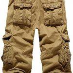 Mochoose Homme Pantalons Courts Coton de L'été Vintage Cargo Travail Casual 3/4 Shorts Multi Pockets Sport et Loisir de la marque Mochoose image 1 produit