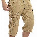 Mochoose Homme Pantalons Courts Coton de L'été Vintage Cargo Travail Casual 3/4 Shorts Multi Pockets Sport et Loisir de la marque Mochoose image 2 produit