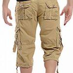 Mochoose Homme Pantalons Courts Coton de L'été Vintage Cargo Travail Casual 3/4 Shorts Multi Pockets Sport et Loisir de la marque Mochoose image 3 produit