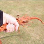 Mode Marron Cuir véritable Fouet tressé à la main Cravache 74Cm164g de la marque Kathy Lee image 3 produit