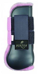 Norton Guêtres ouvertes Confort - coque grise, mouton synthétique rose - Taille poney de la marque Norton image 0 produit