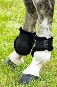 """Protège-boulets NORTON """"Confort"""" - coque noir, mouton synthétique noir - Taille poney de la marque Norton image 0 produit"""