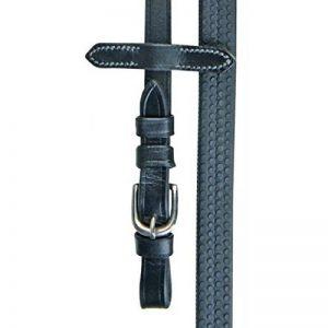 Rênes cuir et caoutchouc noir - CHEVAL, NOIR de la marque HKM image 0 produit