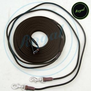 Royal Web & Cord Draw Reins, 8 Mts. Long./ Vegetable Tanned Leather./ Stainless Steel Buckles. de la marque Royal image 0 produit