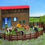 Saddle Pals - Famille de Cheval, Poney Shetland: Étalon, Jument, Poulain - Échelle 01:12 - Paint à la main - Accessoires inclus de la marque Powco image 1 produit