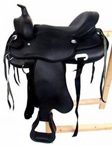 Selle western avec fourche - Noir - Cuir synthétique - OMAHA de la marque A&M Reitsport image 0 produit