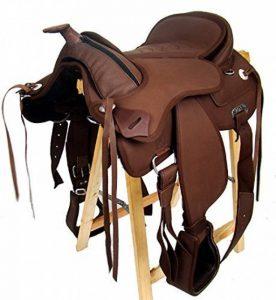 Selle western sans Coton Amarillo + FENDER +, Étrier, marron de la marque A&M Reitsport image 0 produit