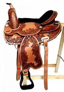 Selle western sans Coton Indiana en Cuir de Buffle avec coussin Velcro de la marque A&M Reitsport image 0 produit