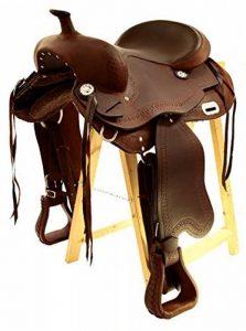 Selle western sans Coton Omaha en cuir de buffle huilé, Full Quarter de la marque A&M Reitsport image 0 produit