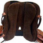Selle western sans Coton Omaha en cuir de buffle huilé, Full Quarter de la marque A&M Reitsport image 3 produit