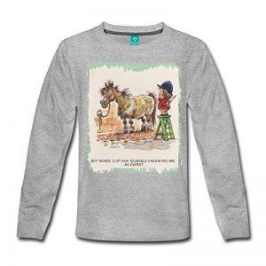 Spreadshirt Thelwell Cavalière A Mal Tondu Son Poney T-Shirt Manches Longues Ado de la marque Spreadshirt image 0 produit