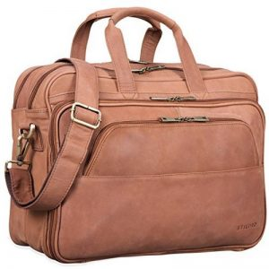STILORD 'Artemis' Cartable de professeur Sac d'affaires en cuir Sac d' enseignant sac bureau pour DEUX classeurs serviette grand sac à bandoulière cuir véritable de la marque STILORD image 0 produit