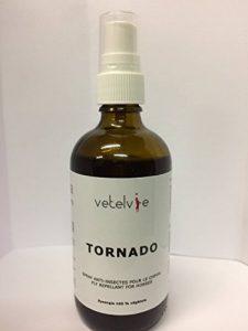 Tornado Répulsif anti-mouches cheval-âne - Flacon-spray 100ml - Synergie d'huiles essentielles et végétales 100% naturelles issues de l'agriculture biologique - Elaboré en France de la marque Tornado image 0 produit