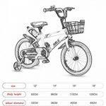 Vélo Guo shop- Bicyclette pour enfants, bébé 2-3-4-6 ans garçon 12-18 pouces bébé poussette (Couleur : Le jaune, taille : 12 pouces) de la marque Vélo image 1 produit