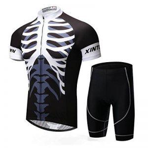 xintown Messieurs séchage rapide respirant manches courtes vélo reitkl eidung Kit avec 3D Coussin rembourré pour vélo Blanc Noir 6Taille de la marque Xintown image 0 produit